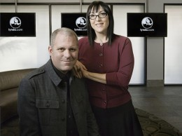Lynda.com Co-founder and Chief Innovation Officer Bruce Heavin and co-founder and Executive Chair Lynda Weinman at the company's Carpinteria headquarters. (Business Times file photo)
