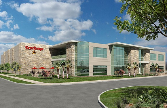 An exterior rendering of the proposed Pacific Beverage facility, a division of Jordano's food and beverage distribution. (Courtesy photo)