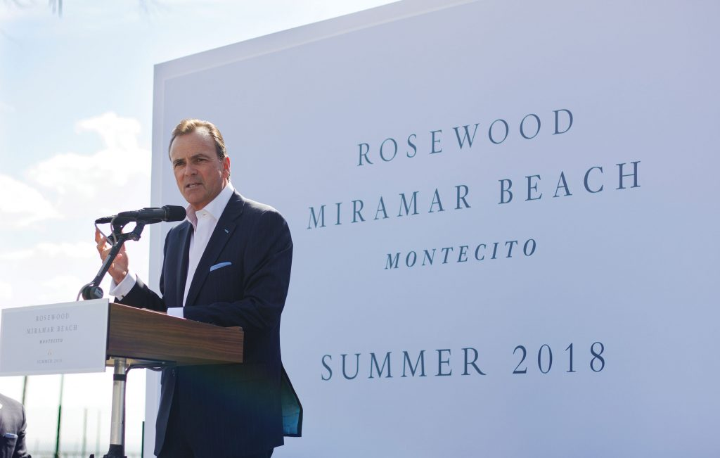 Developer Rick Caruso Speaks At The Groundbreaking Ceremony For Rosewood Miramar Beach Montecito On Oct