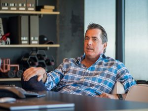 "Procore CEO Craig ""Tooey"" Courtemanche sits in his office at the company's Carpinteria headquarters (Nik Blaskovich photo)"