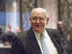 President-elect Donald Trump selected Sonny Perdue as Secretary of Agriculture. (Albin Lohr-Jones via Bloomberg)